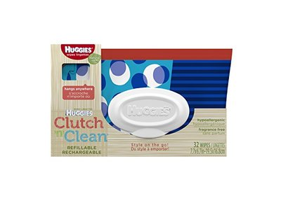 Huggies Natural Care Baby Wipes Clutch 'n Clean Baby Wipes, 32 Count - Image 1