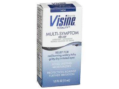 Visine, Multi-Symptom Relief Eye Drops Totality, Lubricant & Astringent Redness Reliever, 0.5 oz - Image 5