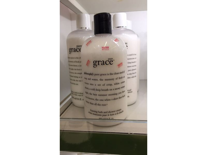 Philosophy Pure Grace Shampoo, Bath & Shower gel, 16 Ounces