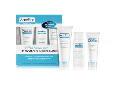 AcneFree Sensitive Skin Acne System - Cleanser 4 oz , Toner 4 oz , Lotion 2 oz