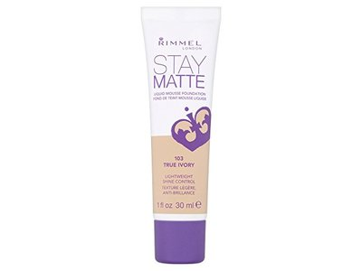 Rimmel London Stay Matte Liquid Mousse Foundation, 103 True Ivory, 30 mL