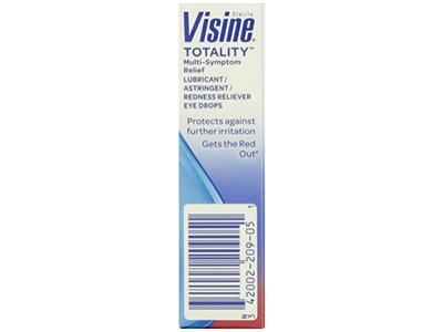 Visine, Multi-Symptom Relief Eye Drops Totality, Lubricant & Astringent Redness Reliever, 0.5 oz - Image 13