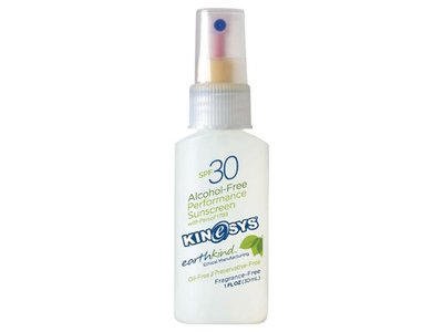 KINeSYS Alcohol-Free Performance Sunscreen, SPF30, Fragrance Free Travel Size