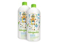Babyganics Foaming Dish and Bottle Soap Refill, Fragrance Free, 32oz Bottle (Pack of 2) - Image 2