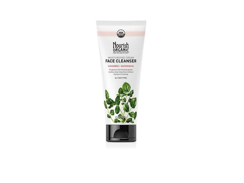 Nourish Organic Moisturizing Cream Face Cleanser, Cucumber + Watercress, 6 fl oz