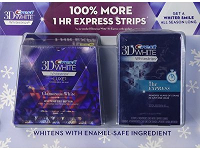 Crest 3D White Whitestrips Advanced and 1hr Express - Image 1