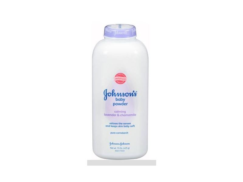 Johnson's Baby Pure Cornstarch Powder with Calming Lavender & Chamomile, 15 oz