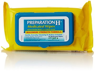 Preparation H Medicated Hemorrhoidal Wipes Refill, 48 Count - Image 1