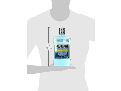 Listerine Ultra Clean Antiseptic Mouthwash, Artic Mint, 50.72 Fluid Ounce - Image 7
