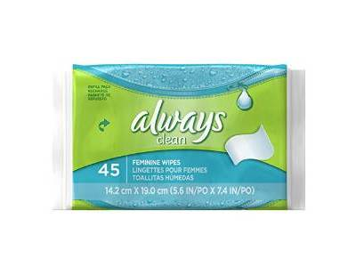 Always Tub Wipes And Refills, 45 count - Image 1