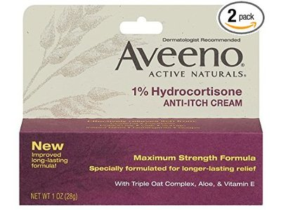 Aveeno 1% Hydrocortisone Anti-Itch Cream - Image 1