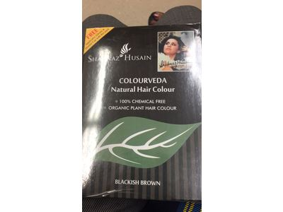 Shahnaz Husain Colourveda Natural Hair Colour, Blackish Brown