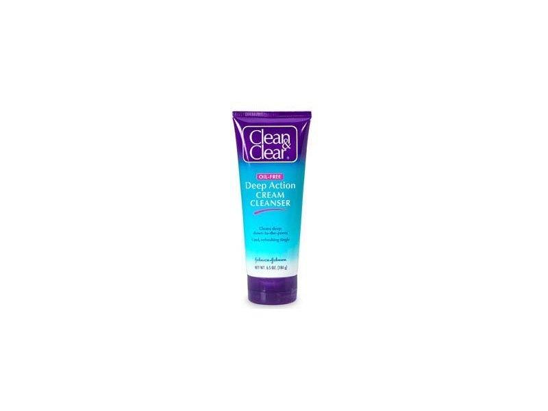 Clean & Clear Deep Action Cream Cleanser Sensitive Skin, Johnson & Johnson