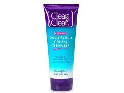 Clean & Clear Deep Action Cream Cleanser Sensitive Skin, Johnson & Johnson