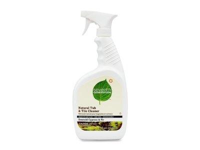 Seventh Generation Tub & Tile Natural Cleaner, Emerald Cypress & Fir, 32 fl oz (Pack of 8)