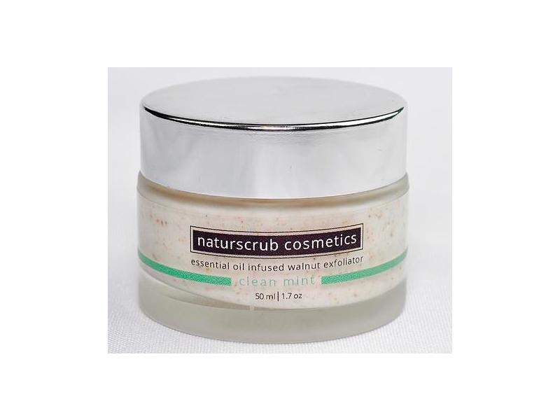 Naturscrub Cosmetics Exfoliator, Clean Mint Blend, 1.7 oz