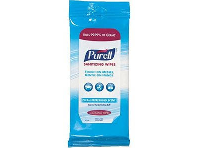 Purell Hand Sanitizer Wipes, 15 count