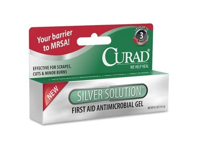 Medline Curad Silver Solution Antimicrobial Gel-Antimicrobial Gel, .5 oz., Non-Stinging, Multi, Wholesale Case of 25