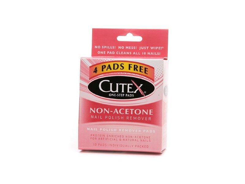 Cutex Nail Polish Remover, Non Acetone Pads, 10 Count