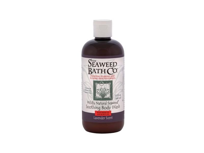 Seaweed Bath Co Wildly Natural Seaweed Body Wash, Lavender,12.0 fl oz