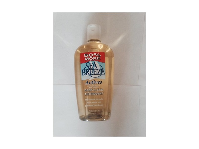 Sea Breeze Actives Deep Clean Astringent 16 Fl.oz (2 Bottles)