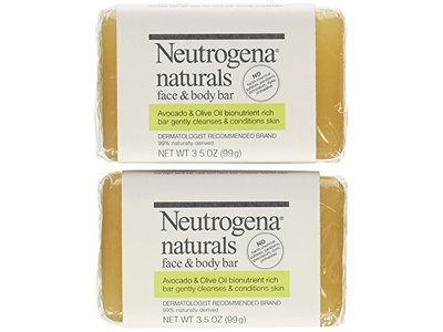 Neutrogena Naturals Face and Body Bar, 3.5 Ounce Bar