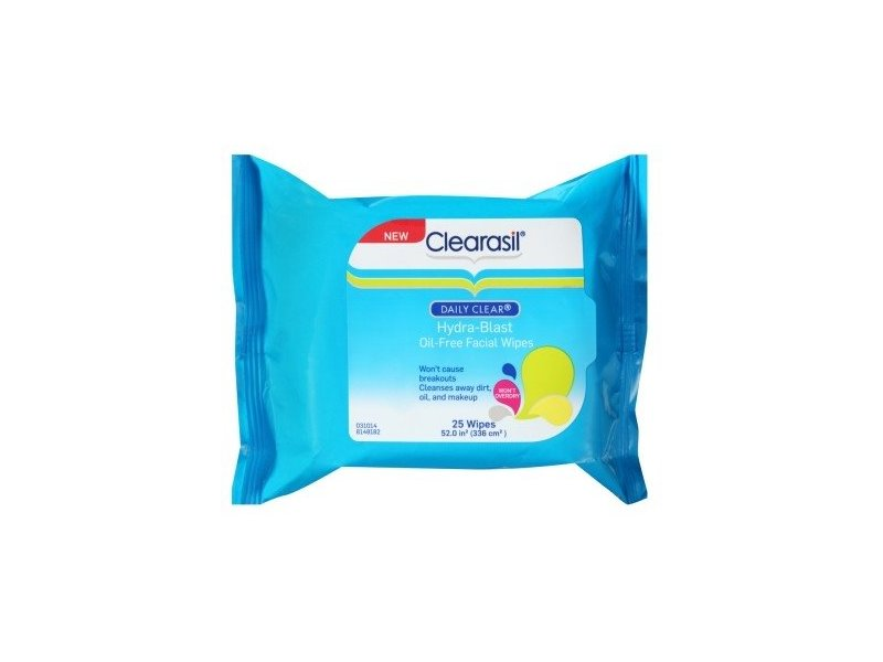 Clearasil Daily Clear Hydra-Blast Oil-Free Face Wipes - 25 ct