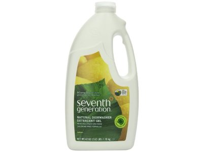 Seventh Generation Automatic Dishwasher Gel, Lemon Scent, 42 fl oz (Pack of 6)