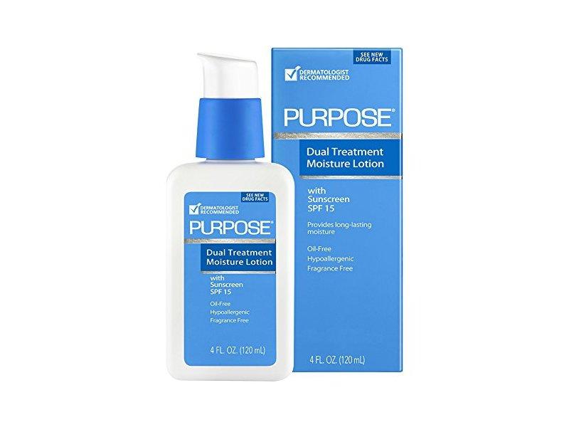 Purpose Dual Treatment SPF 15 Moisture Lotion, 4 Ounce