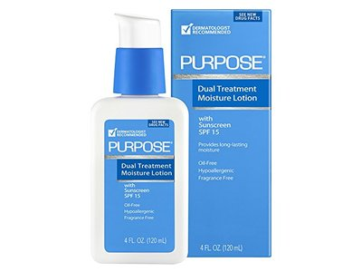 Purpose Dual Treatment SPF 15 Moisture Lotion, 4 Ounce