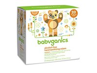 Babyganics Alcohol-Free Hand Sanitizing Wipes, Light Citrus, On-The-Go, 20 count reseal pack - Image 2