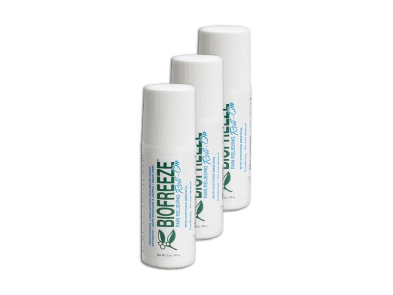 BIOFREEZE Pain Relieving Roll-on, 3 Ounce, Pack of 3