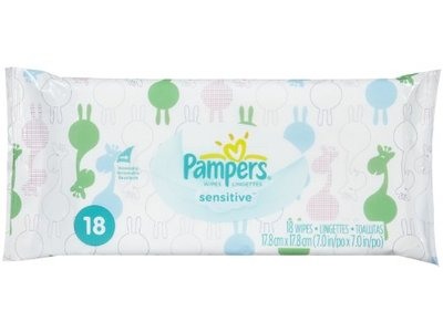 Pampers Sensitive Baby Wipes - Unscented - 18 ct