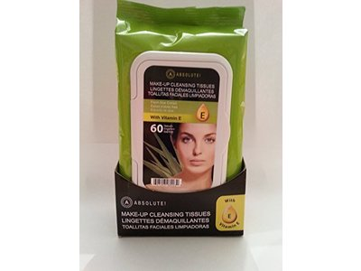 Absolute New York Make-up Cleansing Tissues, Fresh Aloe Extract with Vitamin E, 60 Ct