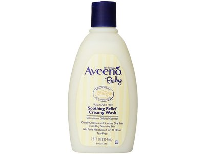 Aveeno Baby Soothing Relief Creamy Wash, Johnson & Johnson - Image 1