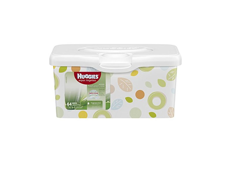 Huggies Natural Care Pop Up Baby Wipes Tub 64 Count