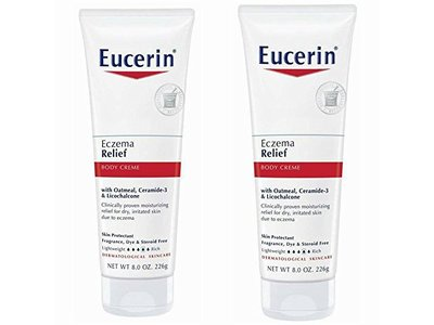 Eucerin Eczema Relief Body Creme -8 Ounce (Pack of 2)