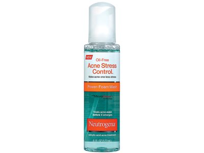 neutrogena oil-free acne stress control power-foam wash, johnson & johnson - Image 1