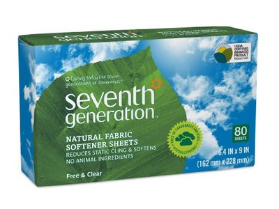 Seventh Generation Fabric Softener Sheets, Free and Clear, 80 Count - Image 1
