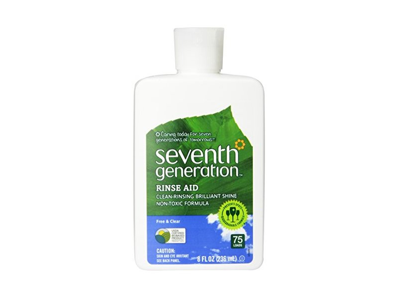 Seventh Generation Rinse Aid, Free & Clear, 8-Ounce Bottles, Pack of 9