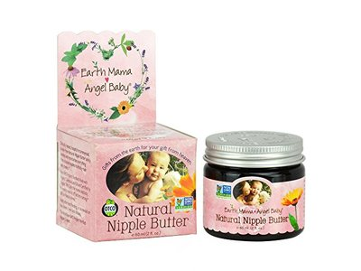 Earth Mama Angel Baby Natural Nipple Butter,, 2 oz