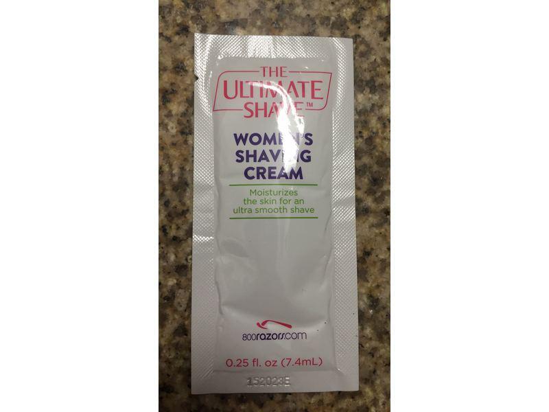 The Ultimate Shave Women's Shaving Cream, 0.25 f oz
