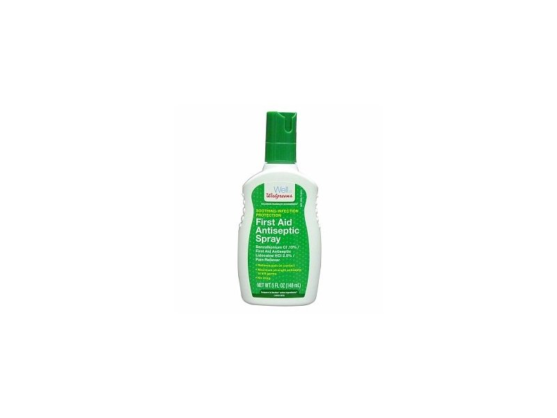 walgreens first aid antiseptic spray  5 fl oz ingredients and reviews