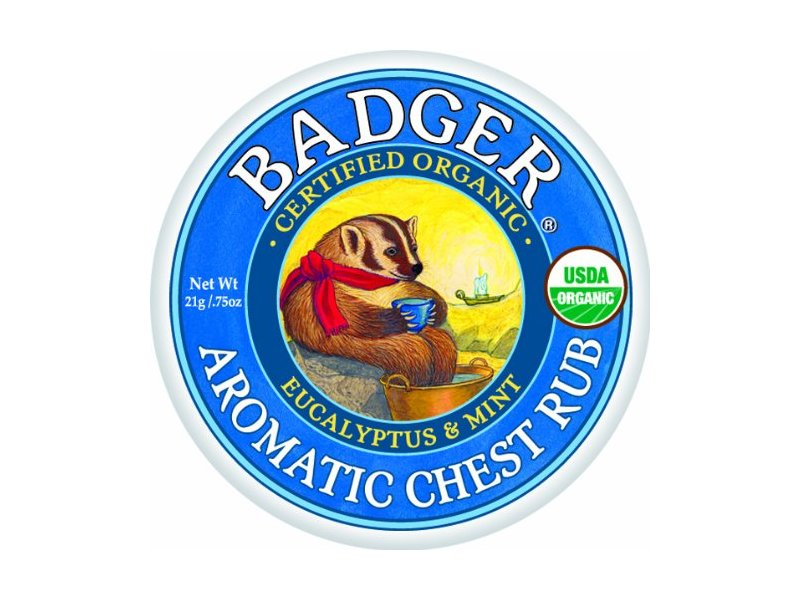 Badger Balm Aromatic Chest Rub, Eucalyptus + Mint, .75 oz