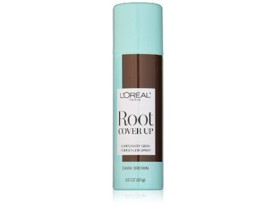 L'Oreal Paris Root Cover Up Temporary Gray Concealer Spray, Dark Brown, 2 oz - Image 1