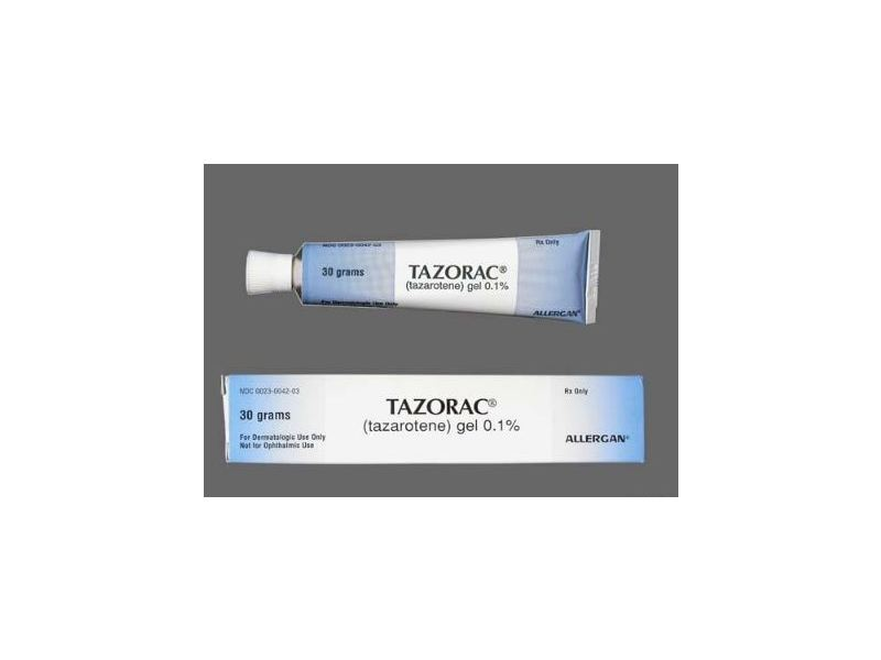 Tazorac Topical Gel 0.1% (RX) 30 Grams, Allergan
