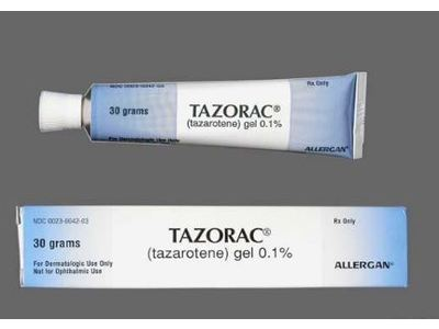 Tazorac Topical Gel 0.1% (RX) 30 Grams, Allergan - Image 1