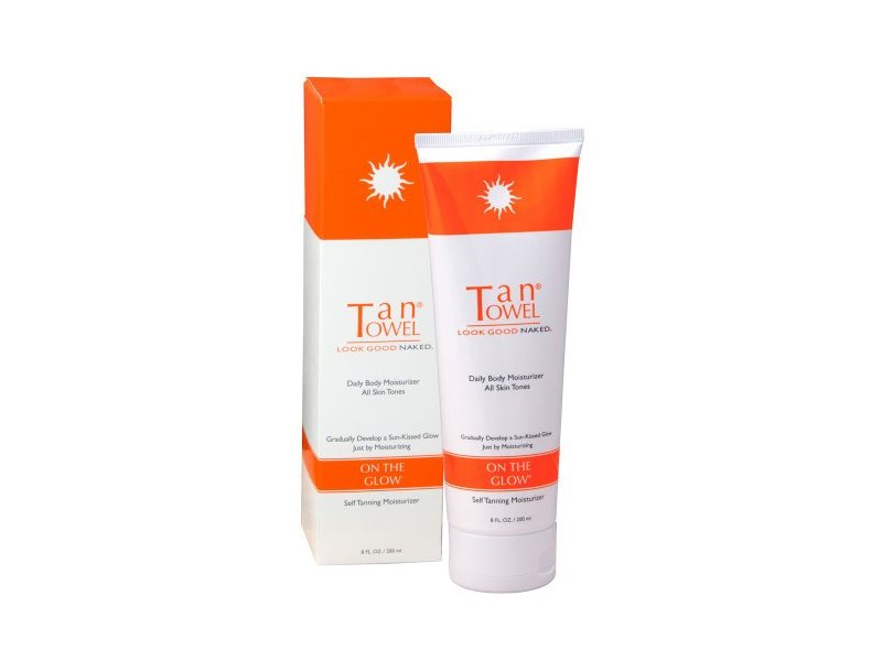 TanTowel On The Glow Tan Extender Cream for Body, 8 oz