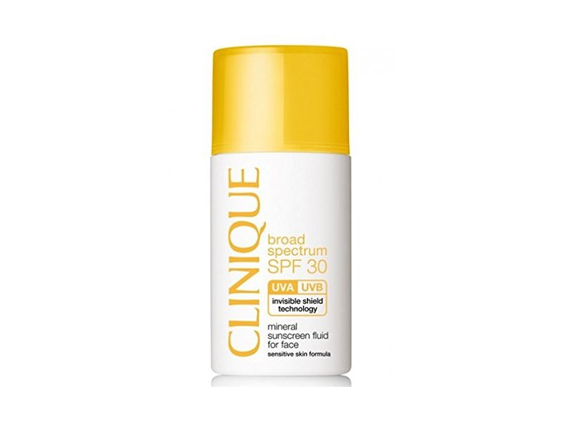 Clinique Broad Spectrum SPF 30 Mineral Sunscreen Fluid For Face, 1oz/30ml