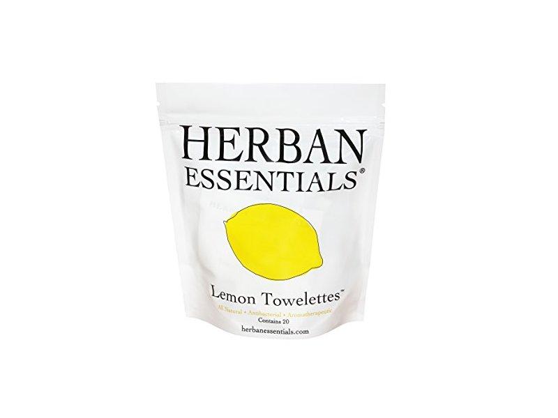 Herban Essentials Lemon Towelettes 20 Count